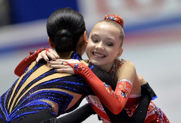 NHK杯2013浅田選手とラジオノワ選手